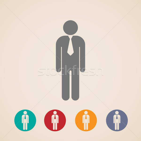 vector icons of businessman or manager  Stock photo © maximmmmum