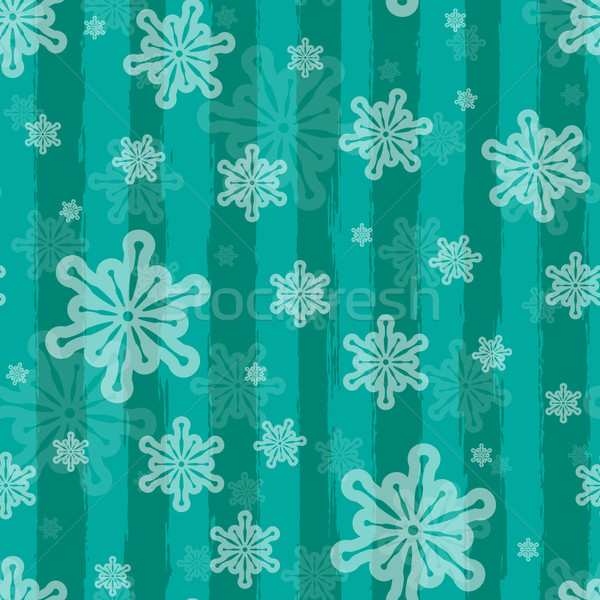 Holiday vector seamless background with brushed stripes and snow Stock photo © maximmmmum