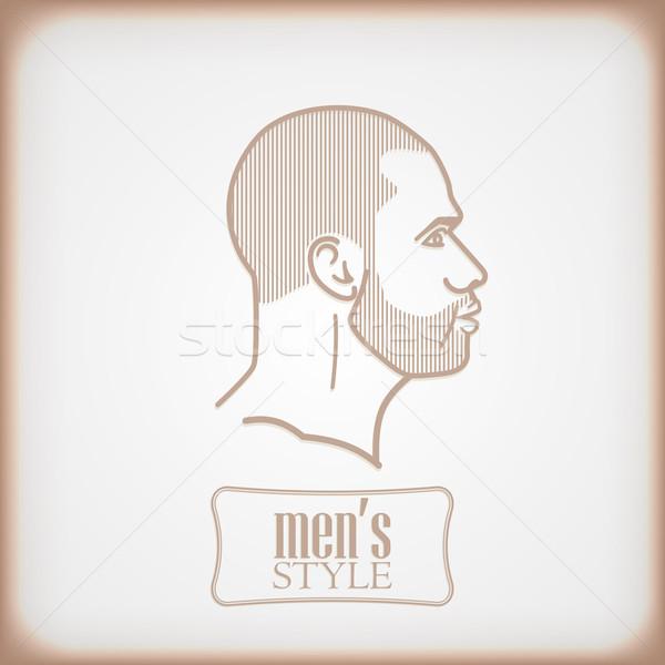 Abstrato rosa cara retrato cabeça vintage Foto stock © maximmmmum
