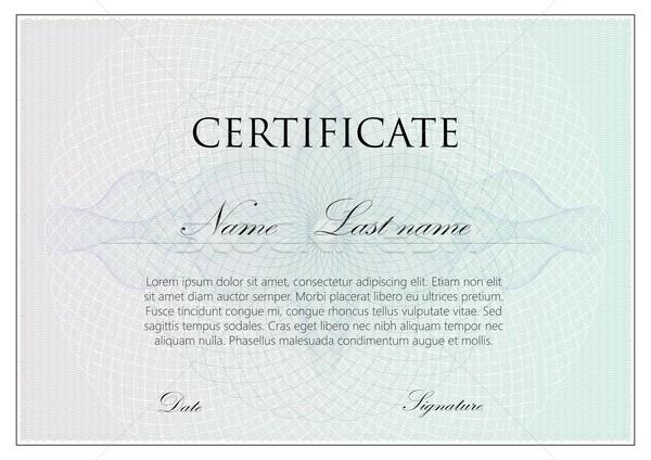 Vector plantilla diseno certificado signos patrón Foto stock © maximmmmum