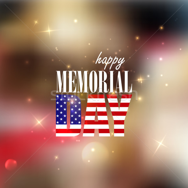 Holiday blurred background with sparkles. 4th of July. Happy memorial day  Stock photo © maximmmmum