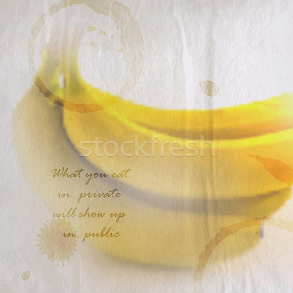Idézet ráncos klasszikus papír köteg banán Stock fotó © maximmmmum