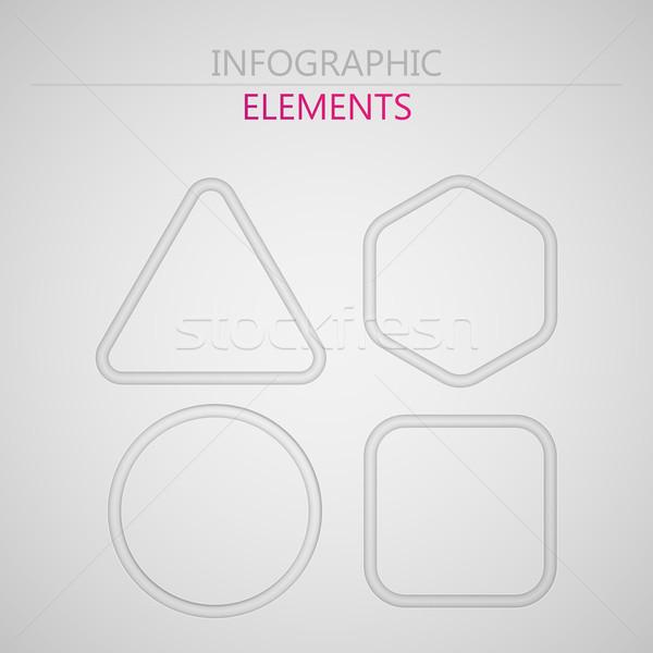 Vektor Set abstrakten 3D Papier Stock foto © maximmmmum
