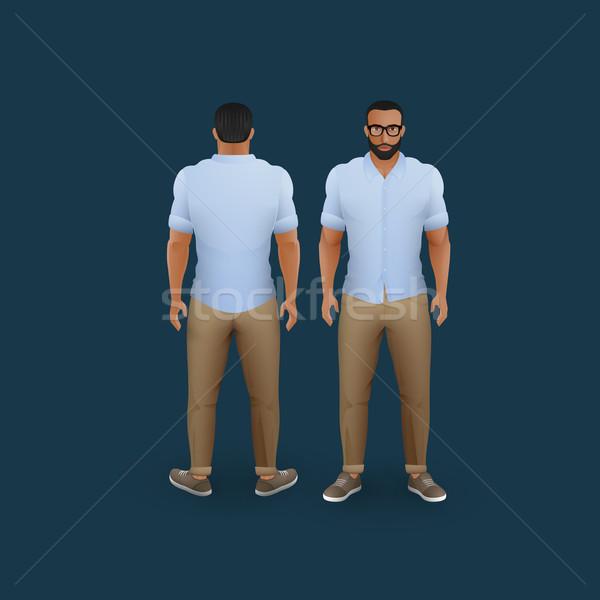 Mannen pants shirt vector mode illustratie Stockfoto © maximmmmum