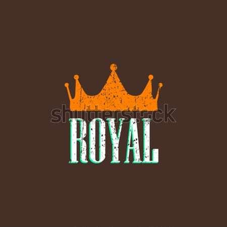 Illustratie diamant kroon ontwerp teken web Stockfoto © maximmmmum