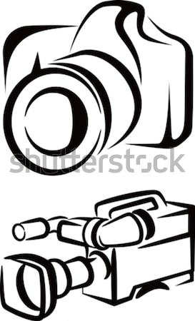 Stockfoto: Camera · illustratie · digitale · foto · grafische · icon