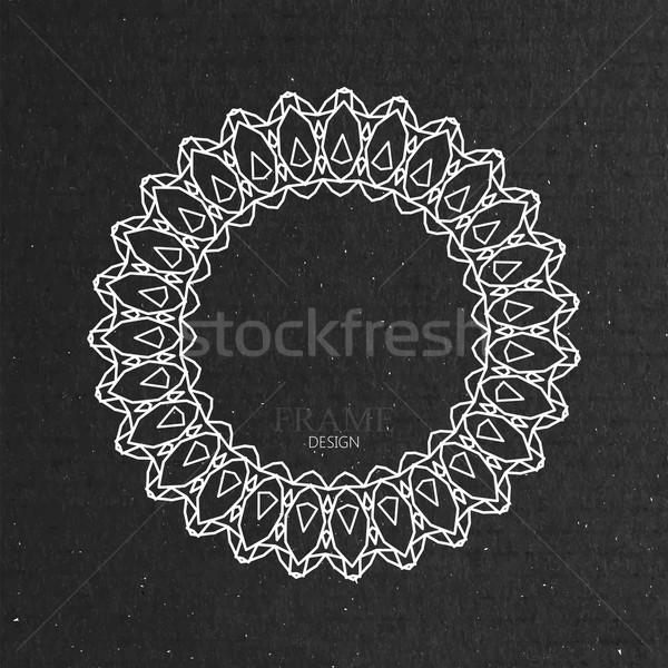 ornate frame on cardboard texture. Stock photo © maximmmmum