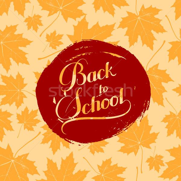 education  illustration of Back To School retro label  Stock photo © maximmmmum
