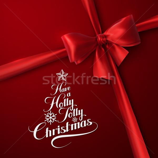 Holly Jolly Merry Christmas Stock photo © maximmmmum