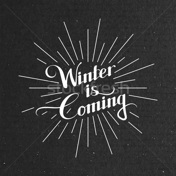 Winter Is Coming. Vector Illustration Stock photo © maximmmmum
