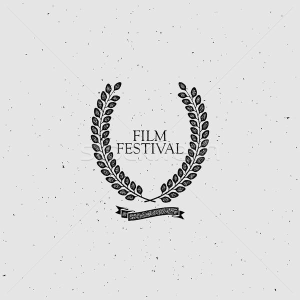 Film festival ödül imzalamak bağbozumu çelenk Stok fotoğraf © maximmmmum