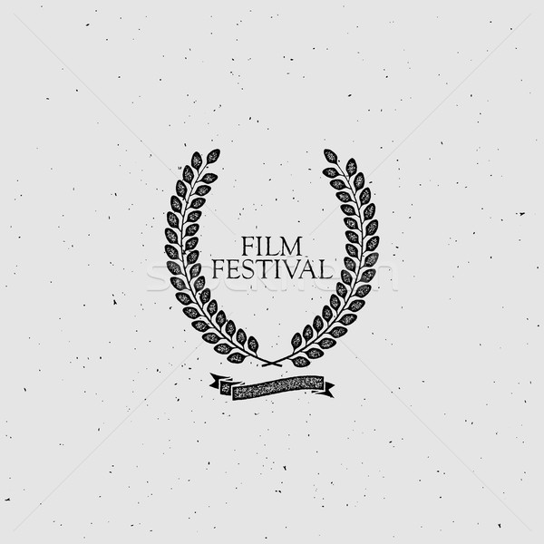 Film festival attribution signe vintage couronne Photo stock © maximmmmum