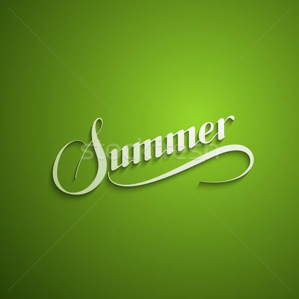 handwritten Summer retro label Stock photo © maximmmmum