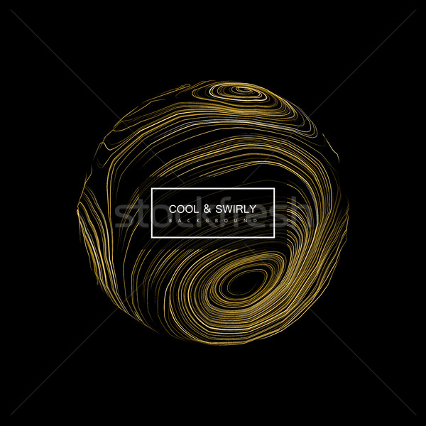 Abstract 3D curl sphere with swirled stripes. Stock photo © maximmmmum