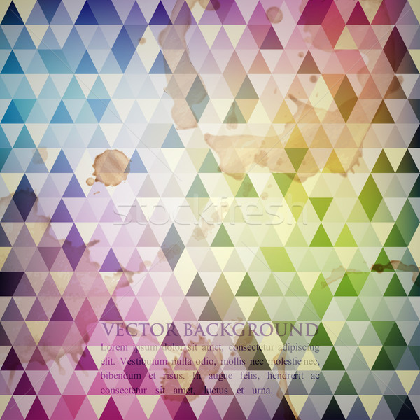 multicolored background with grunge mosaic texture  Stock photo © maximmmmum