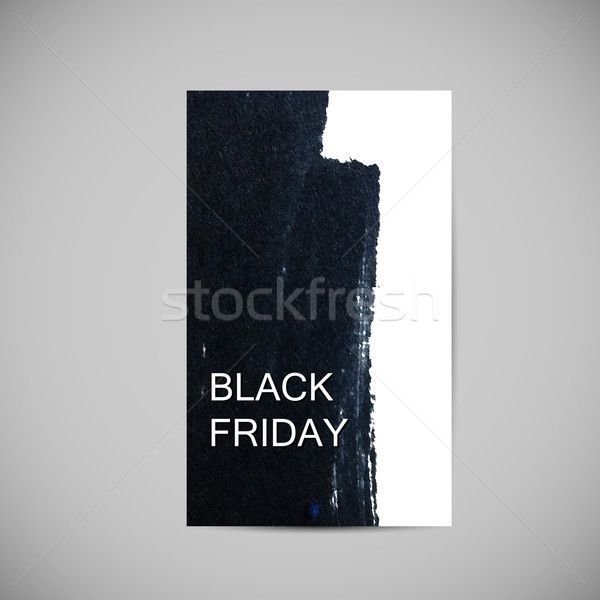 Black friday verkoop label inkt vlek Stockfoto © maximmmmum