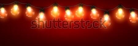 Eléctrica guirnalda luces vector vacaciones Foto stock © maximmmmum