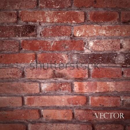 Foto stock: Vetor · textura · vermelho · parede · de · tijolos · de · volta · à · escola · edifício