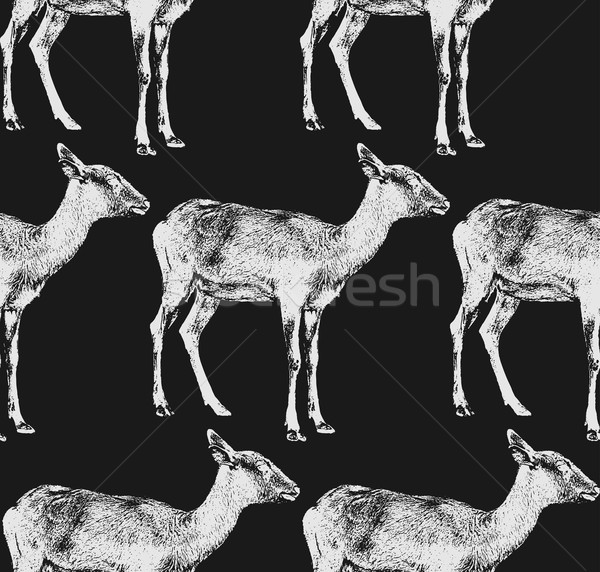 ヤギ シームレス 動物 パターン テクスチャ 自然 ストックフォト © maximmmmum