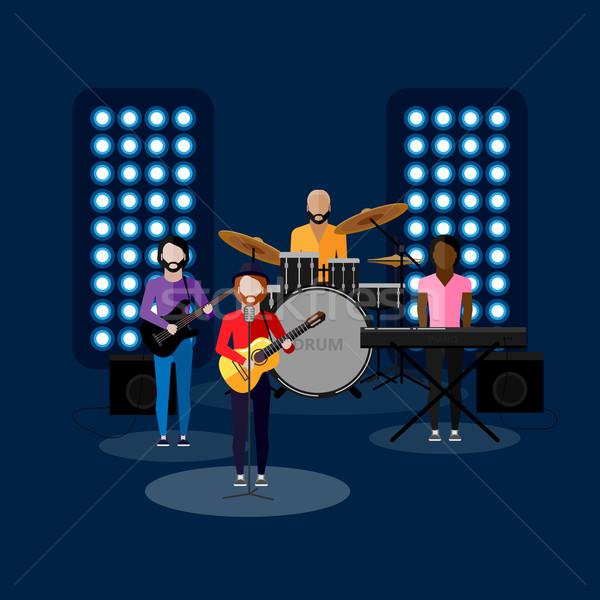 Illustrazione musica band fase intrattenimento show Foto d'archivio © maximmmmum