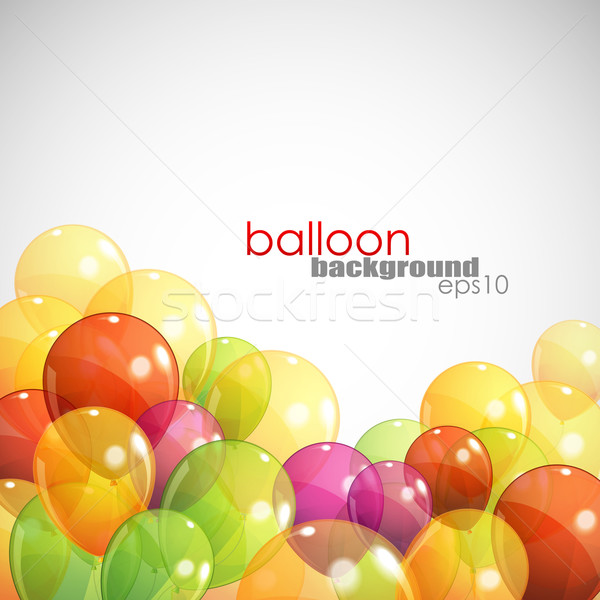 background with multicolored balloons Stock photo © maximmmmum