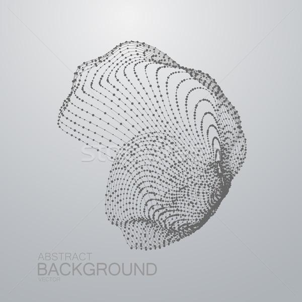 3D abstracte vorm deeltjes futuristische technologie nano Stockfoto © maximmmmum