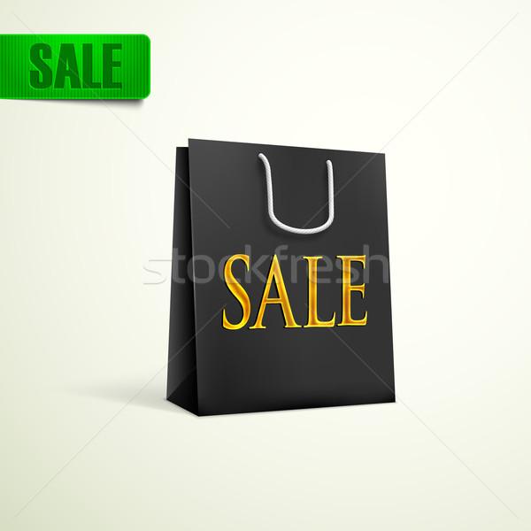 black shopping bag. sale concept  Stock photo © maximmmmum