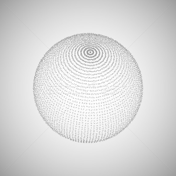 3D sphere of particles Stock photo © maximmmmum