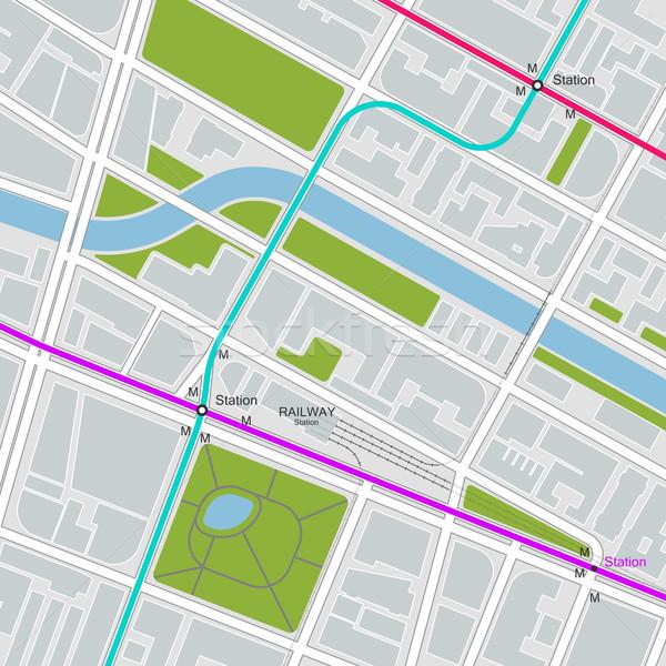город карта транспорт шаблон быстрый транзит Сток-фото © maximmmmum