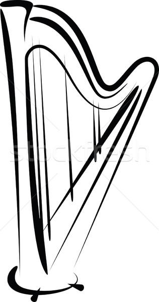 арфа иллюстрация звук строку вектора Сток-фото © maximmmmum