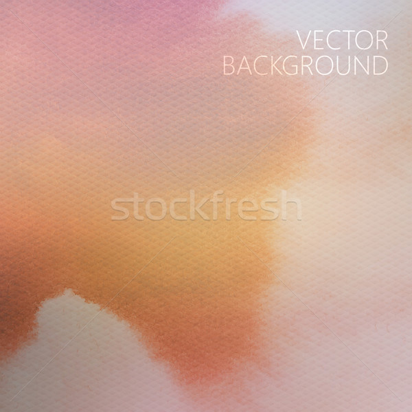 vector abstract orange faded watercolor background with paper te Stock photo © maximmmmum