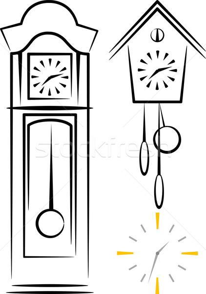 実例 クロック にログイン 時間 家具 レトロな ストックフォト © maximmmmum