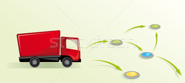 Illustration camion affaires trafic moteur transport Photo stock © maximmmmum
