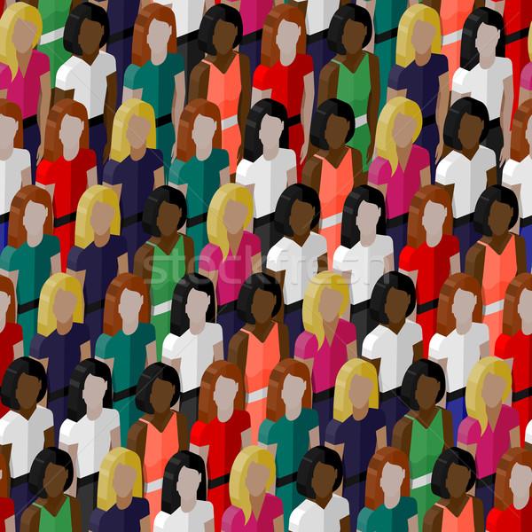 вектора девочек женщины 3D Сток-фото © maximmmmum