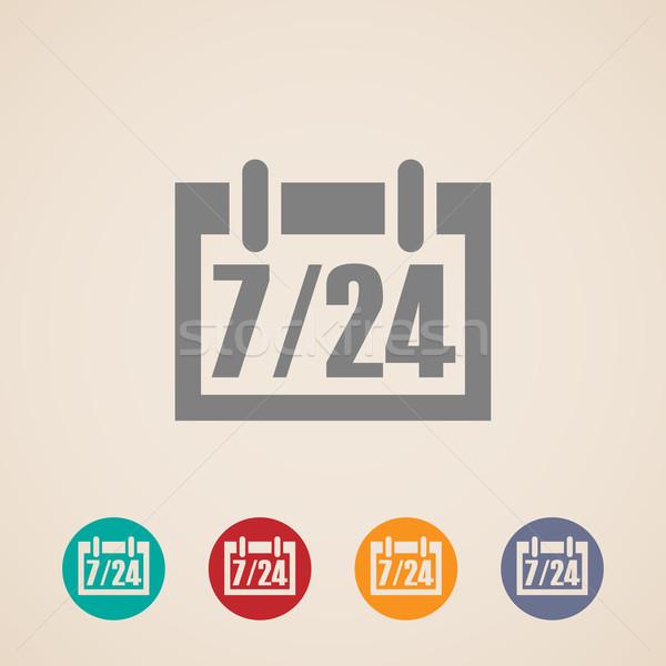 Açmak 24 gün 7 gün hafta simgeler Stok fotoğraf © maximmmmum