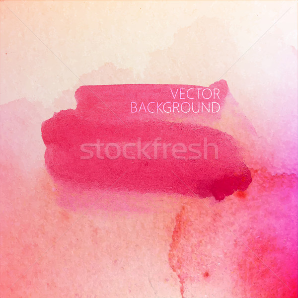vector illustration of red watercolor stain or blotch on the old Stock photo © maximmmmum