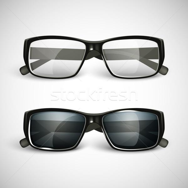 набор Солнцезащитные очки очки моде черный Vintage Сток-фото © maximmmmum