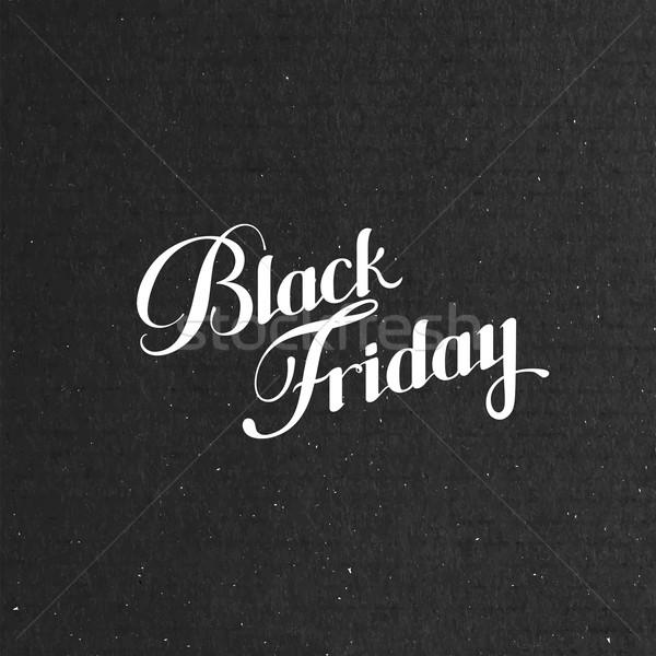 черная пятница продажи Label картона текстуры Сток-фото © maximmmmum
