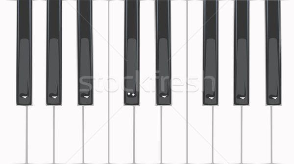 Touches de piano art piano noir sonores blanche Photo stock © maximmmmum