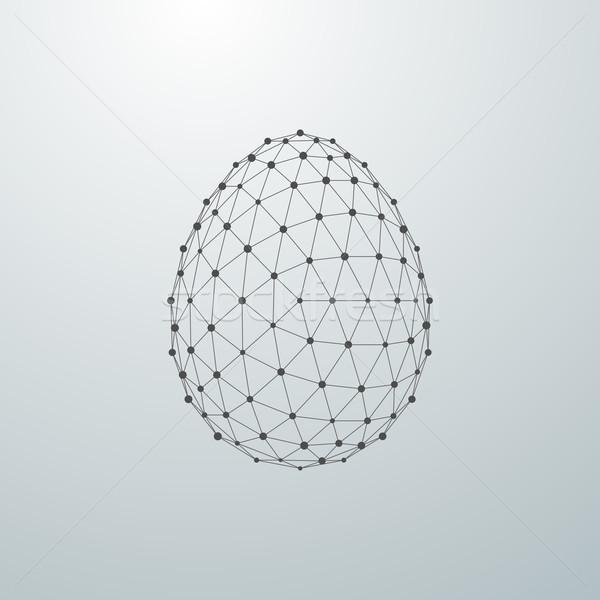 пасхальное яйцо 3D форма Пасху аннотация технологий Сток-фото © maximmmmum