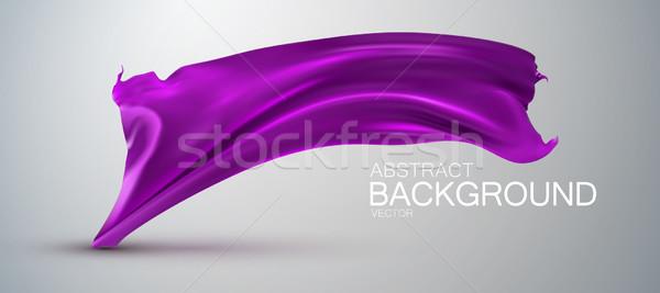 Purple шелковые ткань атласных вектора текстильной Сток-фото © maximmmmum