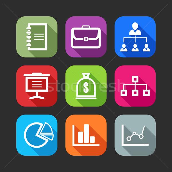 Stockfoto: Iconen · web · mobiele · toepassingen · ontwerp · lang