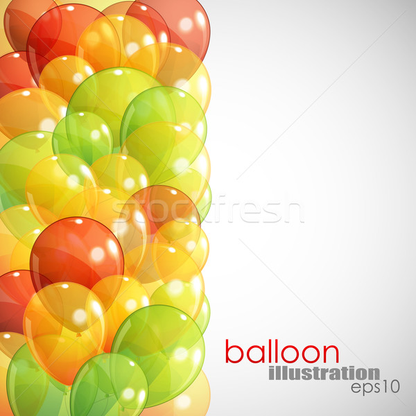 abstract background with multicolored transparent balloons Stock photo © maximmmmum