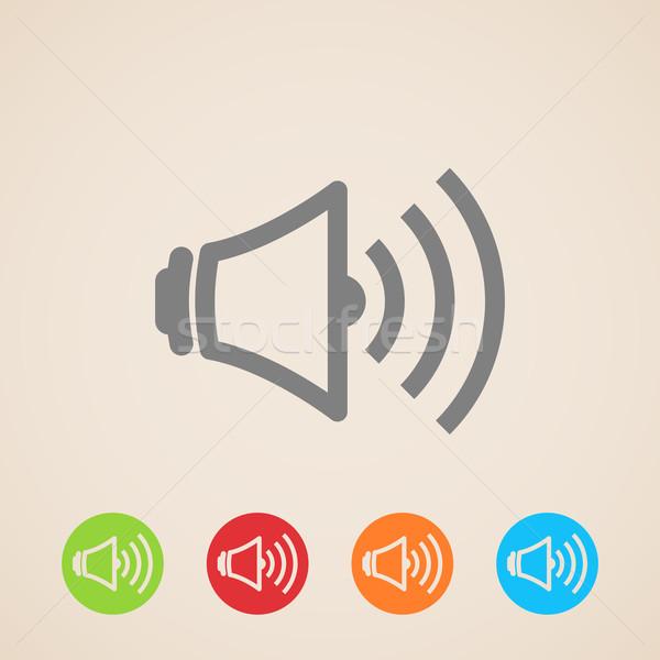 Vector spreker volume iconen technologie achtergrond Stockfoto © maximmmmum
