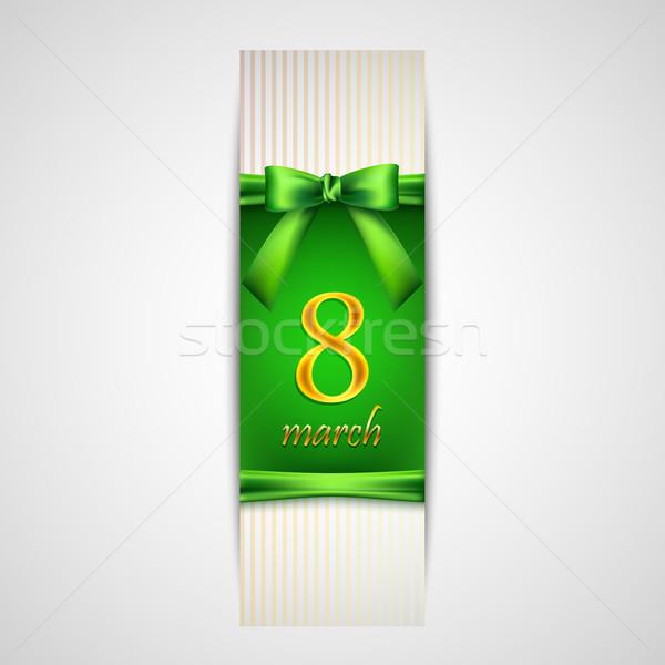 Женский день числа восемь зеленый Сток-фото © maximmmmum