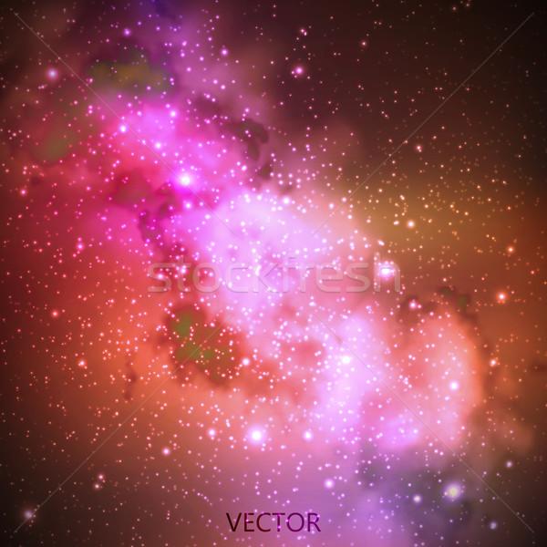 Resumen vector cielo de la noche estrellas ilustración espacio exterior Foto stock © maximmmmum