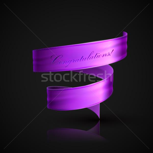 Purple текстильной лента декоративный элемент дизайна Сток-фото © maximmmmum
