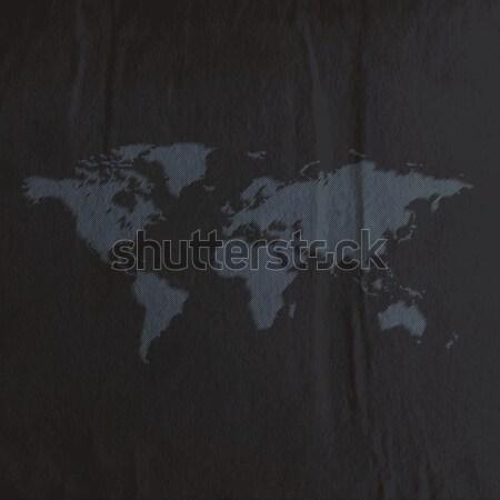 Сток-фото: Мир · карта · черный · текстуру · бумаги · бизнеса · бумаги