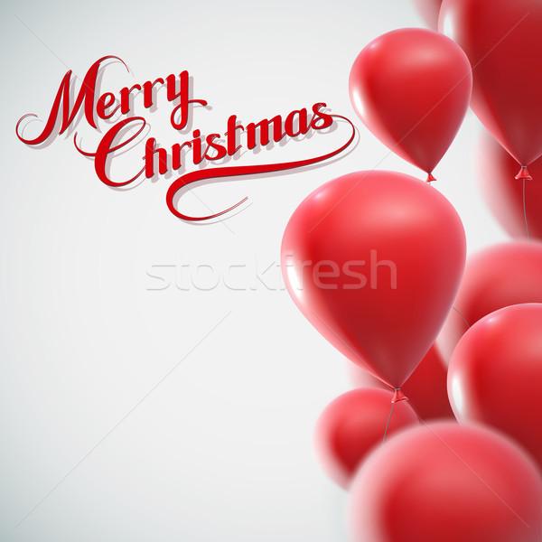 Merry Christmas. Holiday Vector Illustration. Stock photo © maximmmmum