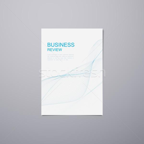 Business Review Brochure Stock photo © maximmmmum